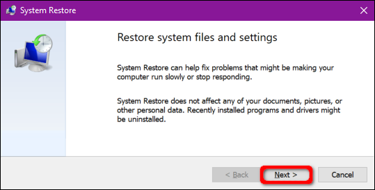 Proses System Restore